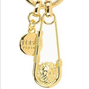 Versace Gold Lion Head Key Chain NIB MSRP $150